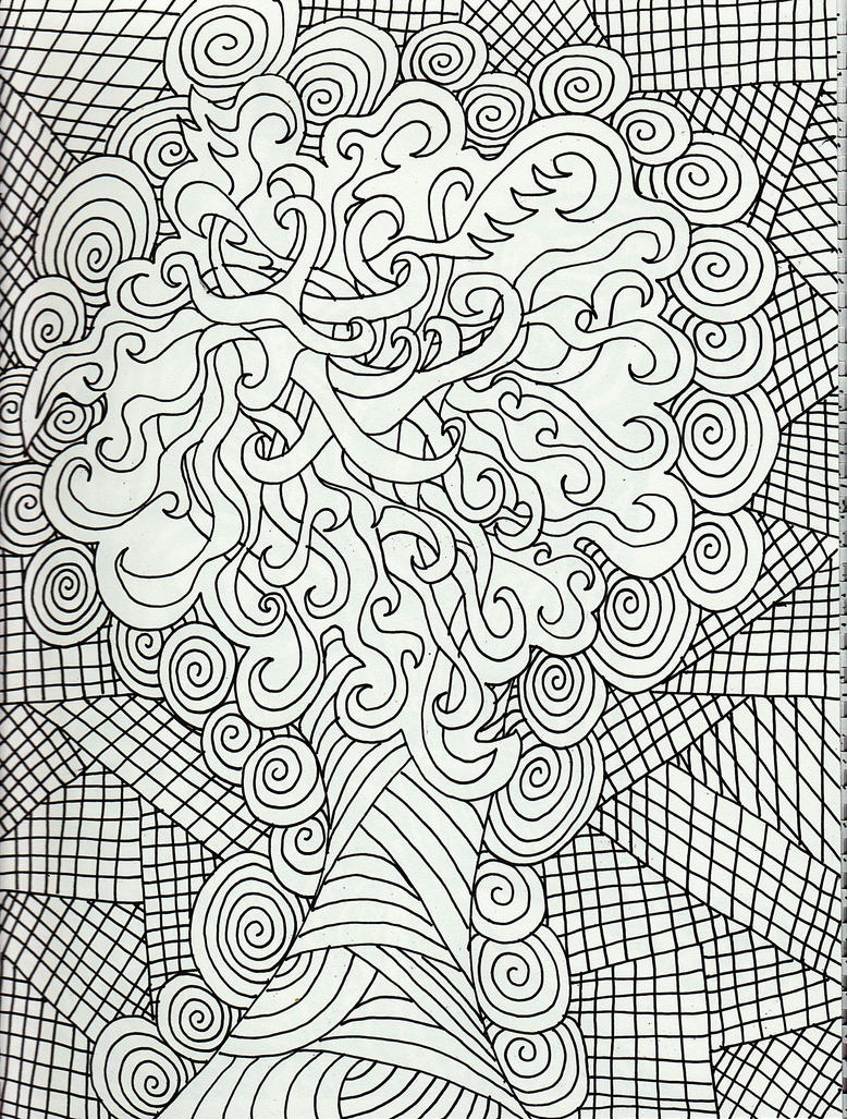 Abstract Tree Coloring Pages : Triptastic tribal tree by merpagigglesnort on deviantart