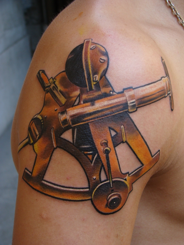 the gallery for sextant tattoo meaning. Black Bedroom Furniture Sets. Home Design Ideas
