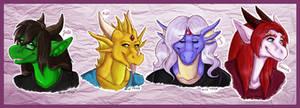 -TF2C- Four Dragonesses by EmzieTowers