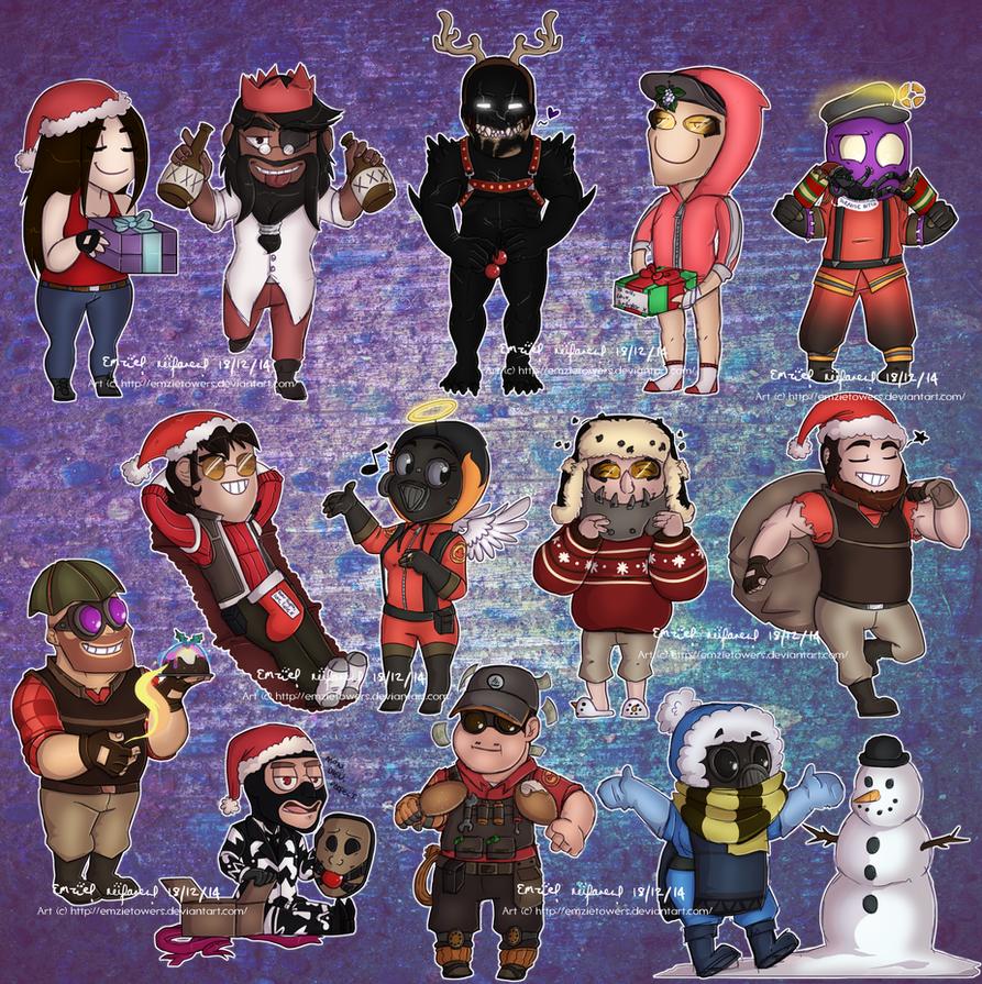 -G- Christmas Chibis 2014 By EmzieTowers On DeviantArt