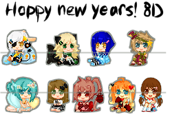 Late xmas gifts- pixel icons by iOni-kun