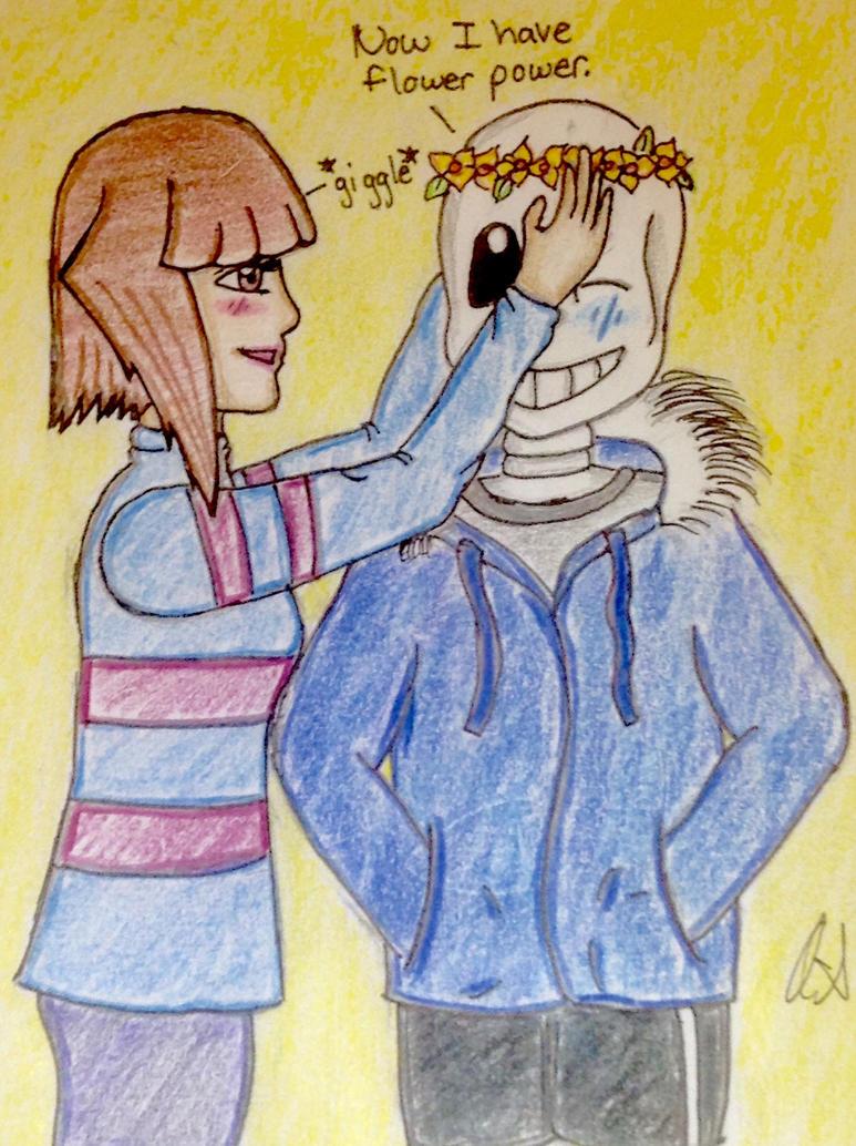 SansxFrisk Flower Power by VelvetBlue15