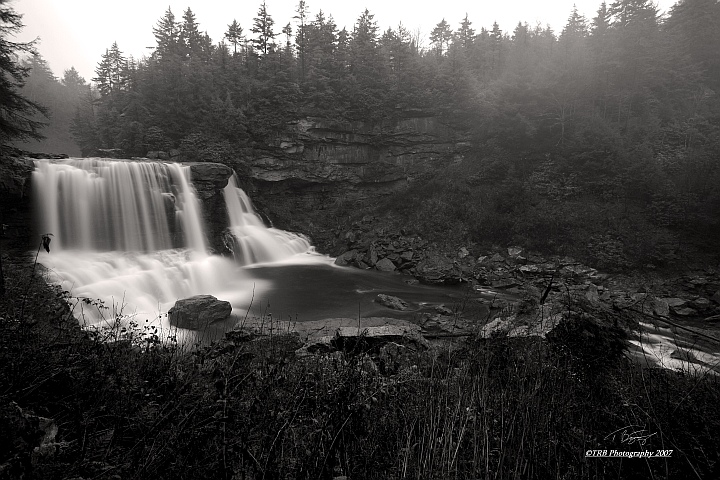 Blackwater in Black and White by TRBPhotographyLLC