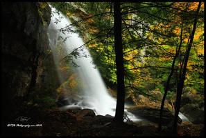 Bad Branch Falls Autumn by TRBPhotographyLLC