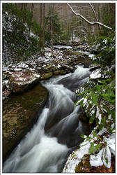 Snowy Spring Flow by TRBPhotographyLLC