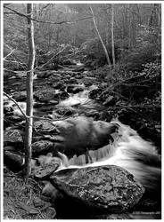 Tremont Cascade in BW by TRBPhotographyLLC