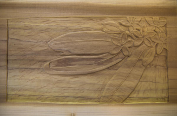Plumeria Relief in Poplar by ShinySilver