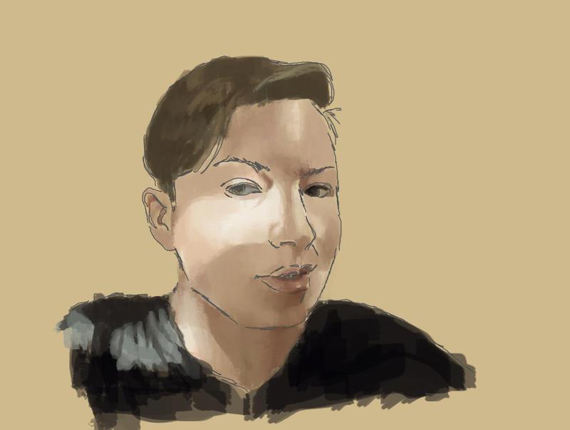 WIP Digital Self Portrait by ShinySilver