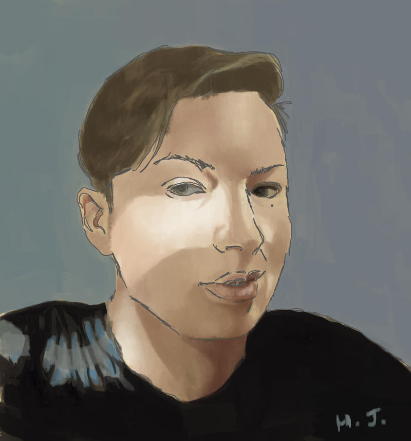 Digital Paint Self Portrait by ShinySilver