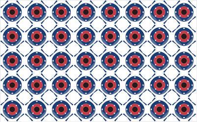 Pattern of Eyeballs by wraithrune