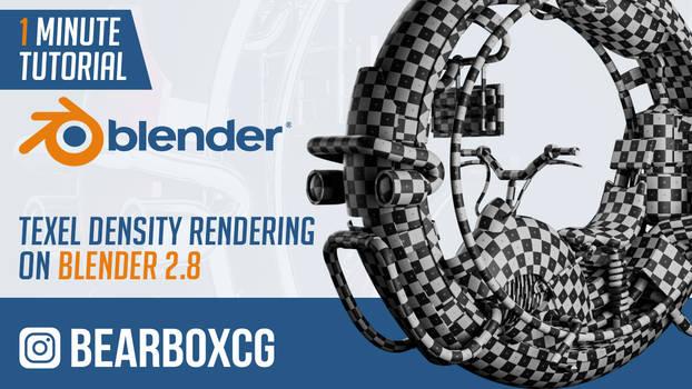 Texel density rendering on Blender 2.8