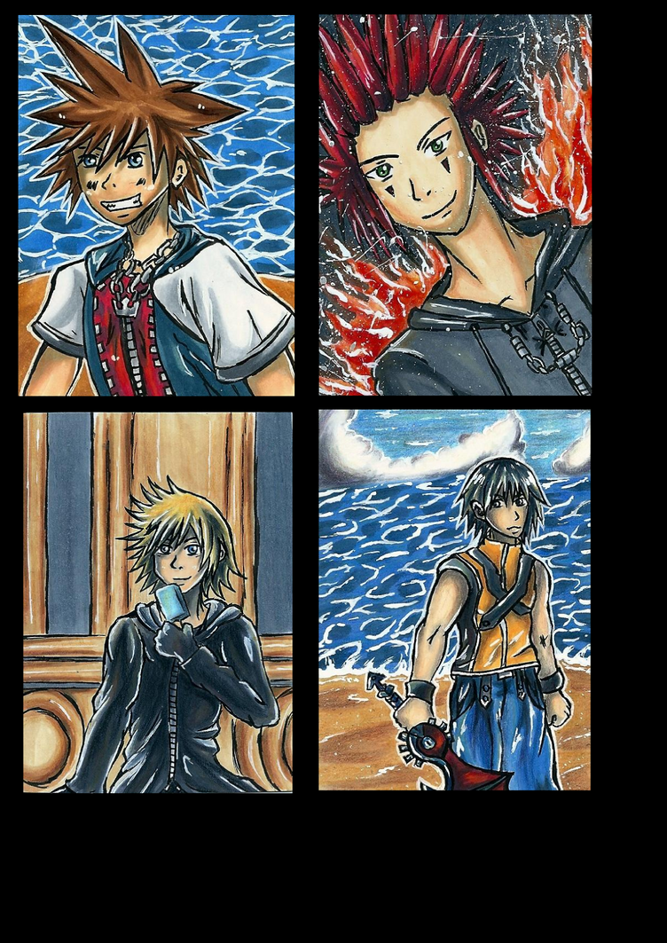 Kingdom Hearts Aceo by Vhalesa