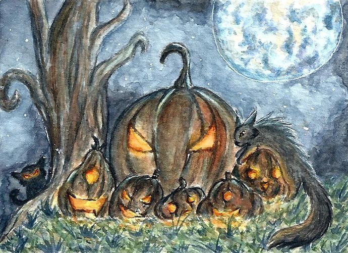 #133-Dark Halloween by Vhalesa