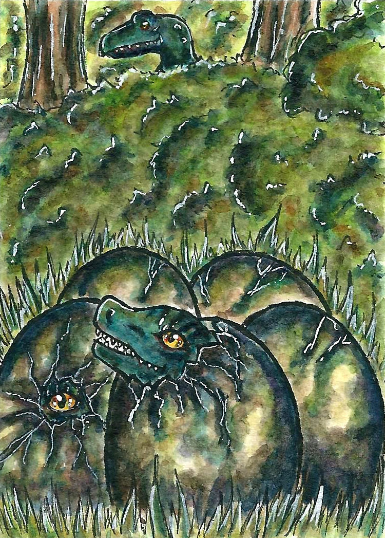 Hatching (Aceo) by Vhalesa