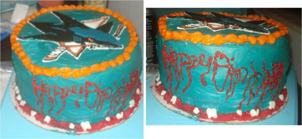 San Jose Sharks Cake by Parallelogasm on DeviantArt