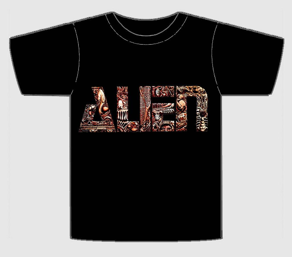 Alien Heavy Metal Logo T Shirt 2 Black By Topherseal On