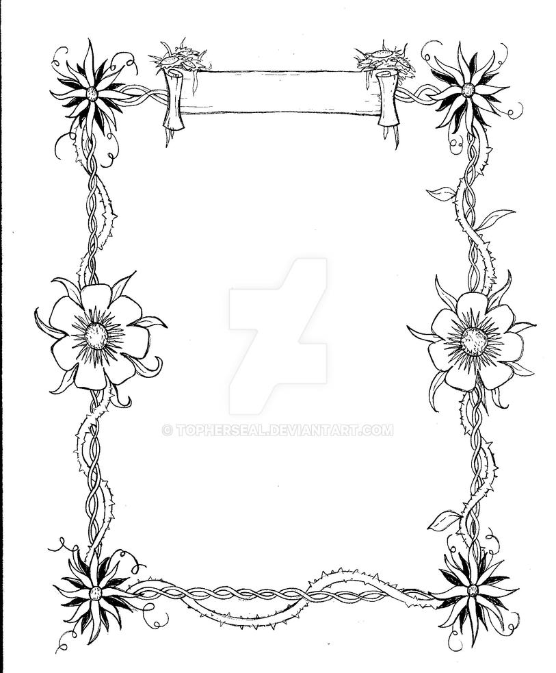 Flowers and Vines Border Design by TopherSeal on DeviantArt