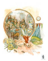 illustration the Hobbit chapter I. Poor Bilbo by DartGarry