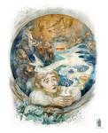 illustration The Hobbit chapter I. dwarfs song
