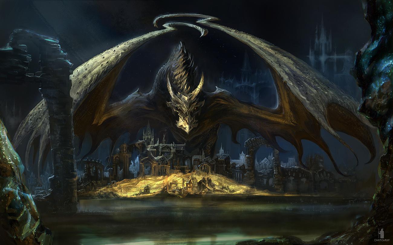Black Dragon Coin by DartGarry