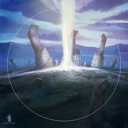 Blazing pillar