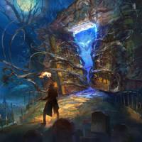 Adventurer and crypt of wine vine