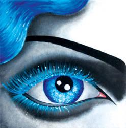Blue eye lashes