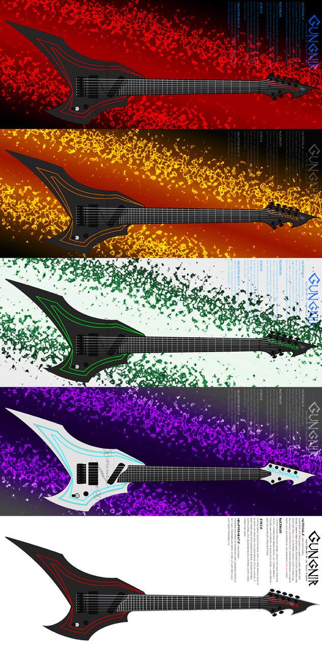 28f Fullsize Custom Guitar Color Set by Ravvij