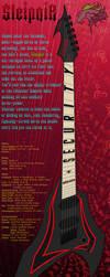 Sleipnir 6string Guitar - Blackjack by Ravvij