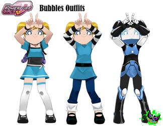 PPGD - Bubbles Outfits - Paperdoll by Silent-Sid