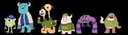 Monsters U pixels by fuchsiasquid