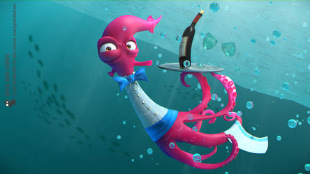 Underwater waiter by digitalrebelstudio