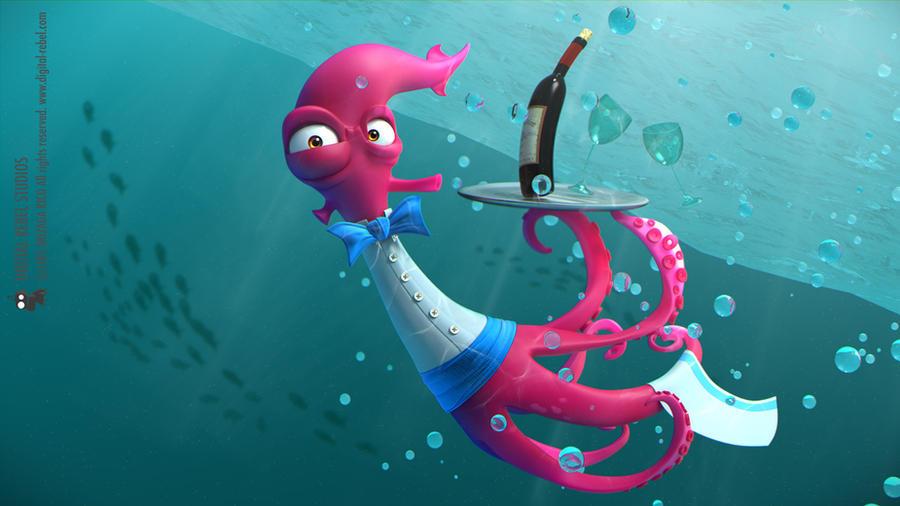 Underwater waiter by ~digitalrebelstudio
