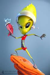 Alien Pin up by digitalrebelstudio