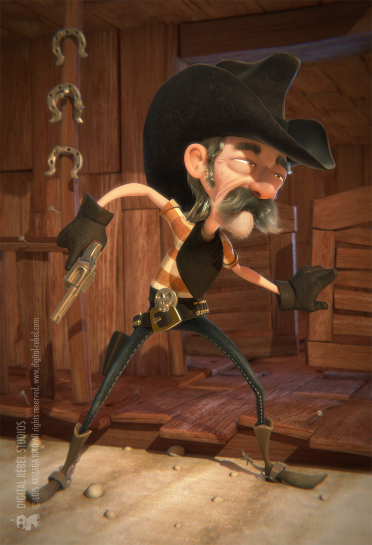 Cartoon cowboy by digitalrebelstudio