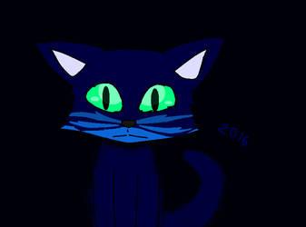 Midnight Kitty by NightOwlFennec