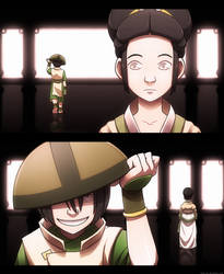 Two Sides - Toph by Blue-Ten
