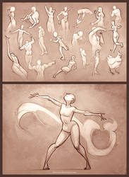 Sketchdump - 30 Second Poses by Blue-Ten