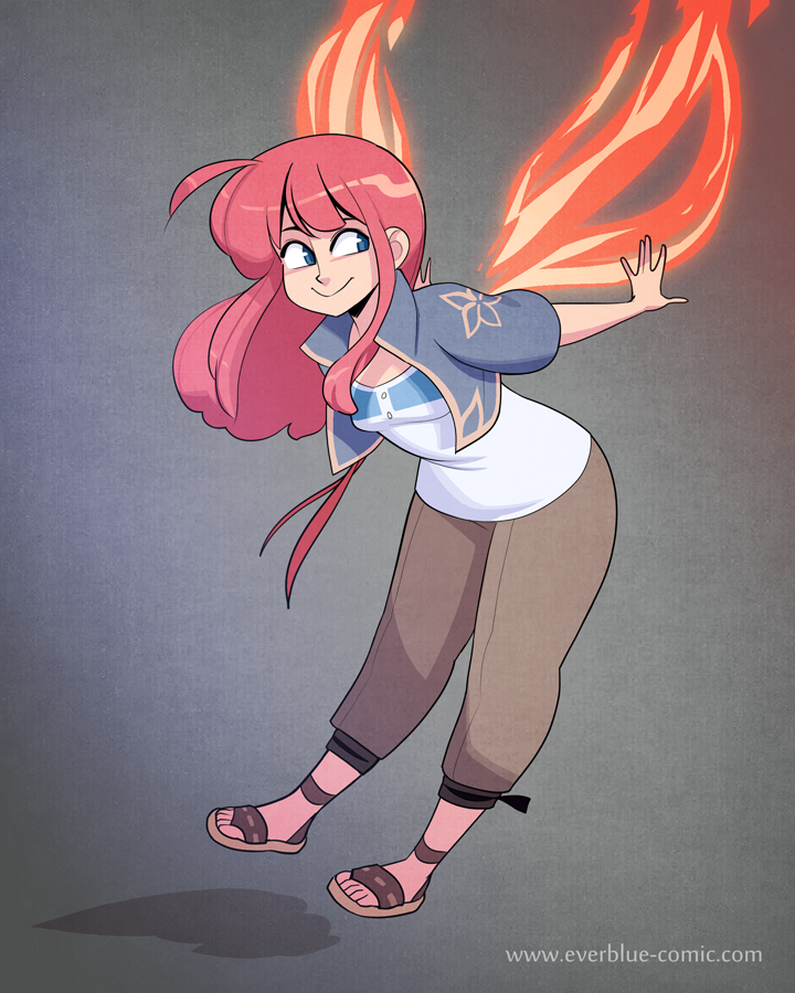 Everblue - Fire Fairy by Blue-Ten