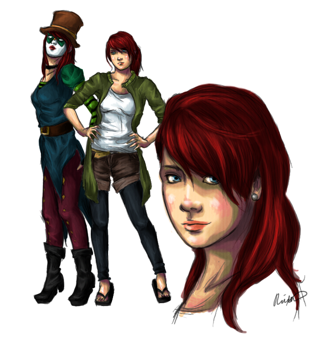 Character Design: Amelia by Chickenese
