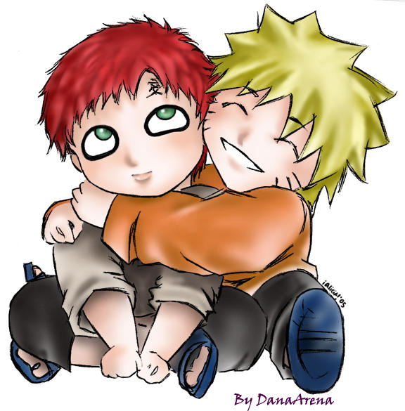 Chibi Gaara and Naruto-fanart by GaaNaru on DeviantArt Gaara And Naruto Chibi
