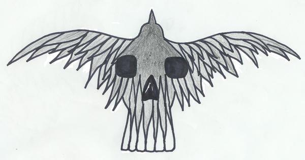 Crow in progress 3 by lyraz13