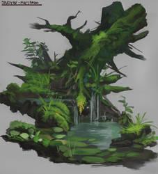 Tree Study (Original Artist Name Lost)