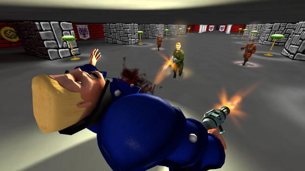 Defeating Hans Grosse (ReWolfenstein 3D)