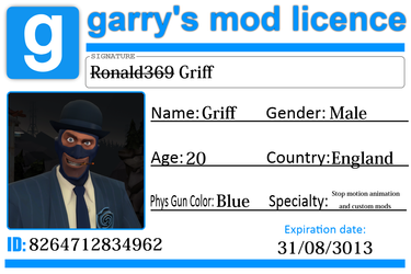 Griff's Garry's Mod Licence