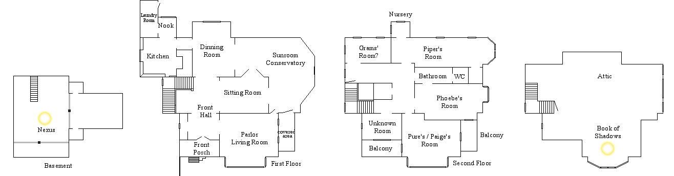 Halliwell Manor Floor Plan by Notsalony