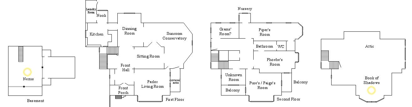 Halliwell Manor Floor Plan by Notsalony