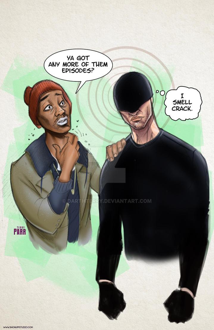 Daredevil Vs Tyrone Biggums by DarthTerry