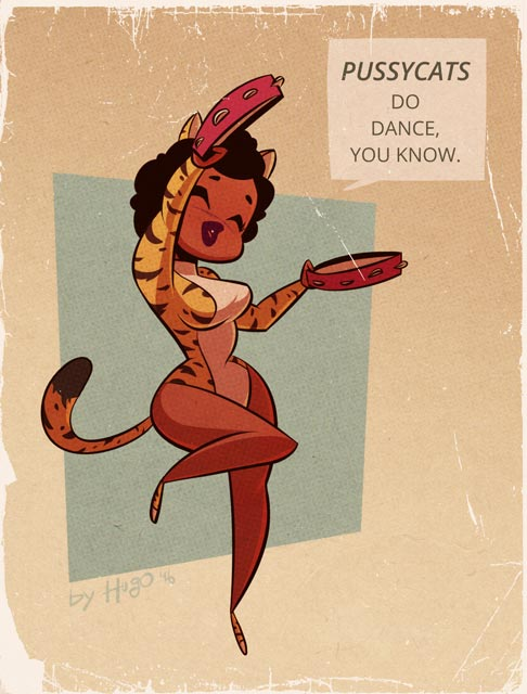 Valerie - Josie and the Pussycats - Cartoon PinUp by HugoTendaz