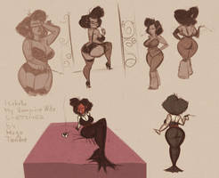 My Vampire Wife Isabella  - Cartoon PinUp Sketches by HugoTendaz